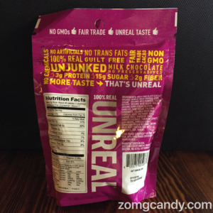 Unreal Candy - Candy Covered Milk Chocolates Nutrition Facts