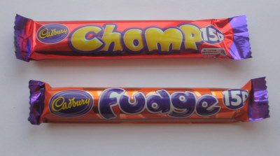 Cadbury Chomp vs Cadbury Fudge