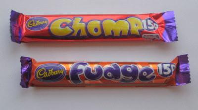 Cadbury Chomp vs Cadbury Fudge