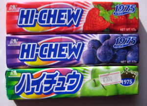 Hi-Chew flavors - Strawberry, Grape, Green Apple