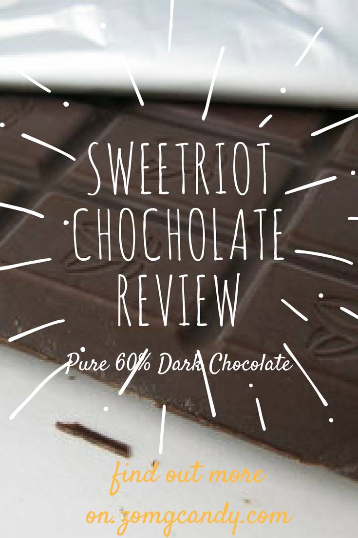 Sweetriot Chocolate - Pure Dark Chocolate 60%