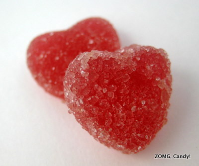 Surf Sweets Fruity Hearts - Organic Candy