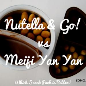 Nutella & Go vs Meiji Yan Yan - Which Snack Pack is Better?