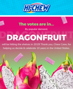 Newest Hi-Chew Flavor: Dragonfruit