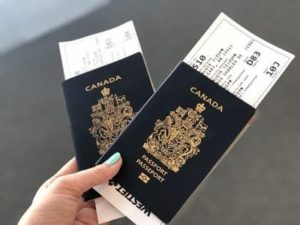 A pair of passports.