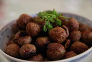 Lamb Meatball with Tzatziki and Garlic Fries