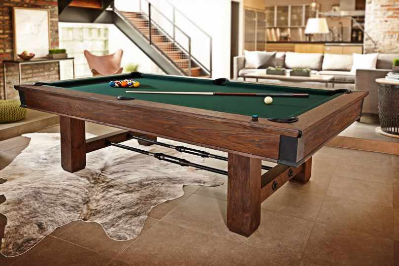 What look folding pool table.